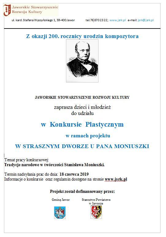 UWAGA! Konkurs – Tradycje narodowe w twórczości Stanisława Moniuszki